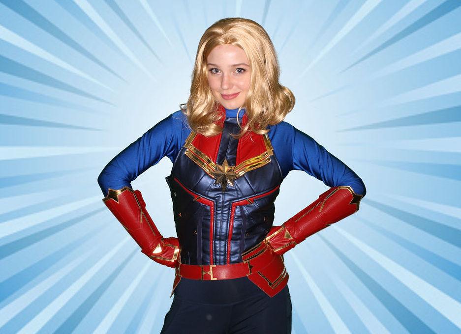 Captain Marvel themed birthday