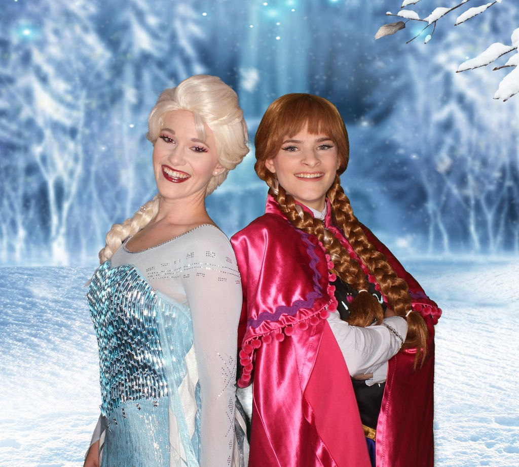 Elsa and Anna characters for hire