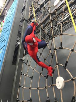 Spiderman character at Sender One