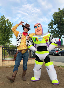 Toy Story characters for hire