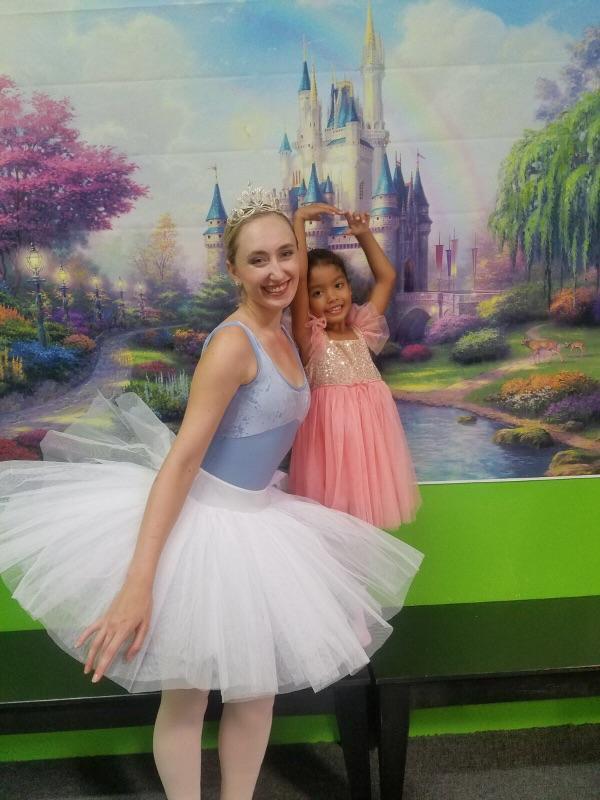 Ballerina at a party