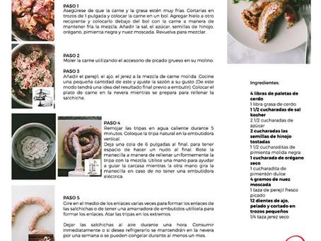 Receta Salchicha Italiana Dulce