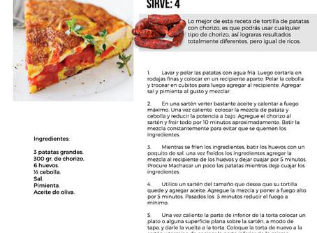 Receta Torta Española con Chorizo