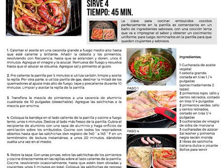 Receta Salchicha Italiana con pimientos