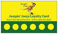 Jumpin' Joeys Loyalty Card