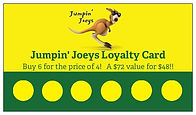 Jumpin' Joeys Loyalty Card