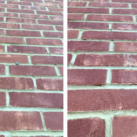 Brick wall damage repair