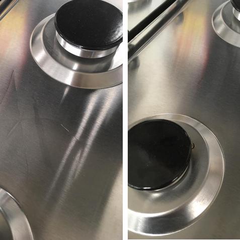 stainless steel hob repair
