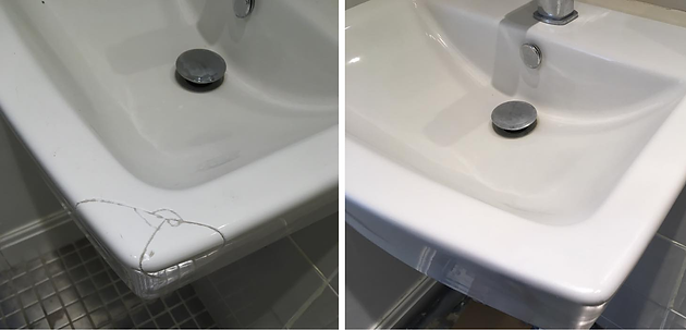 No Need To Replace Damaged Basins, We Can Repair Them To Look Like New
