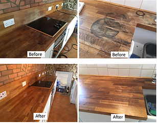 solid wood and timber worktop revival repair services