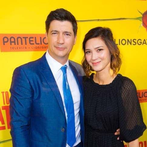 Ken Marino and Erica Oyama - How to Be a Latin Lover Premiere