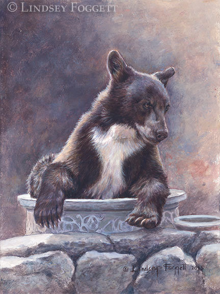 'Summer Dip' - Black Bear (Miniature)