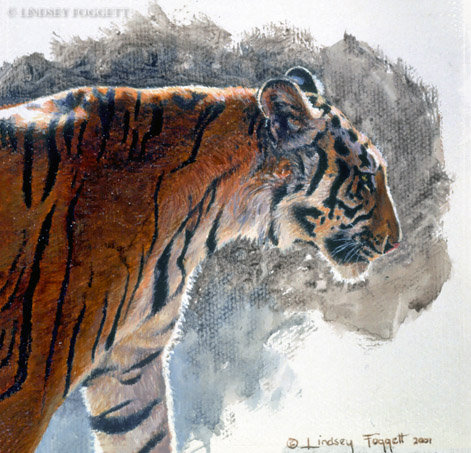 """Regal Stride"" - Tiger (Miniature Painting)"