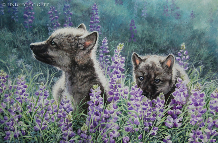"""""""Scent Of Spring"""" - Wolf Pups"""