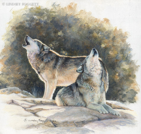 """In Harmony"" - Wolves (Miniature Painting)"