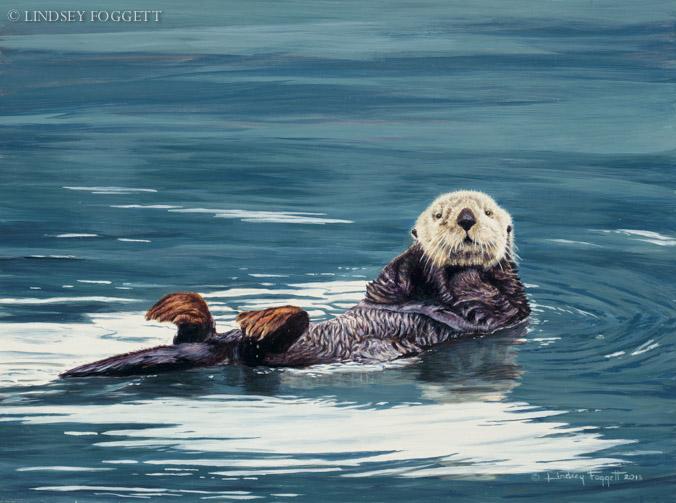 """Laid Back"" Sea Otter"