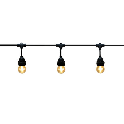 Guirlande Pendante - 6,0m - 8 x E27/G45 - Filament Led - 2W - 2200°K-