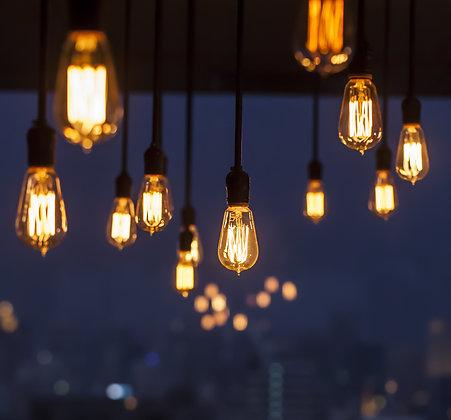 Guirlande Pendante 3,0 m - 4 Ampoules Filament Led 4W - Vintage 2200°K