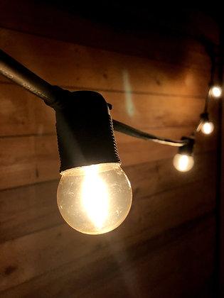 Guirlande 3,0 m - 6 Ampoules G45 Filament Led 1W - Vintage 2200°K