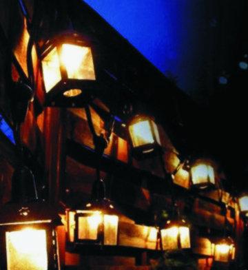Guirlande Linéaire 6,0 m - 12 Lanternes Métal-Amp. Filament Led 1W - Warm 3000°K