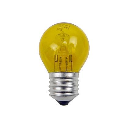 Ampoule E27/G45 - 15/18W - Halogène - Jaune