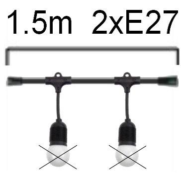 GUIRLANDE - L'ELEGANTE (Pendante) - Long 1,5m - 2 Douilles E27(sans ampoule)