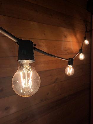 Guirlande Linéaire 6,0 m - 12 Ampoules Filament Led 2W - Vintage 2200°K