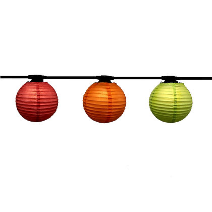 Guirlande LINEAIRE - 6,0m -12 x E27/G45 - Led - 1W - Lanterne Papier Trendy