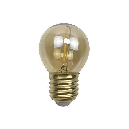 Ampoule E27/G45 - Filament LED - 1W/70 Lumens - 2200°K - Antic