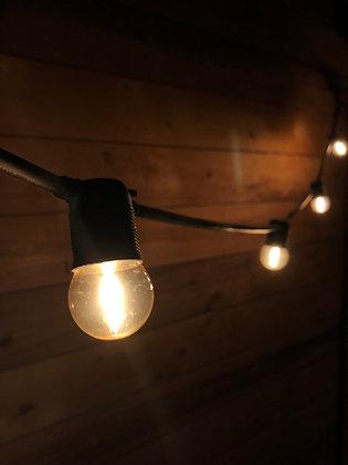 Guirlande Linéaire 6,0 m - 12 Ampoules Filament Led 1W - Vintage 2200°K