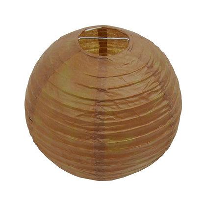 ABAT JOUR (S) - Lanterne papier diam 12cm - Chocolat