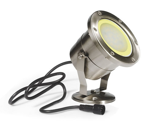Projecteur Bassin GM - INOX 304 -IP68/2m - MR30 - LED 10W - 3000°K