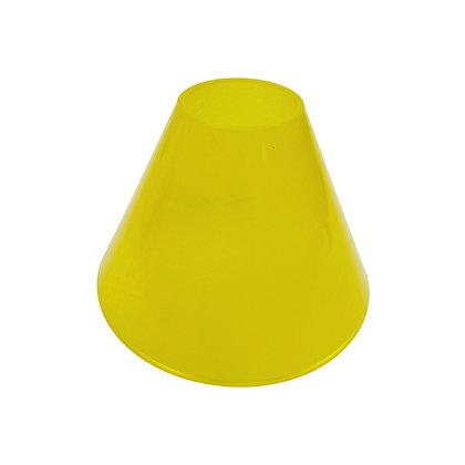 ABAT JOUR (S) - Cône Plastique diam 12 cm - Jaune
