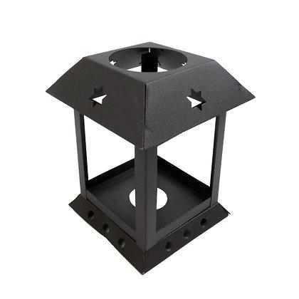 ABAT JOUR (S) - Lanterne métal carrée x cm - Rustique