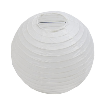 ABAT JOUR (S) - Lanterne papier diam 12cm -Blanc