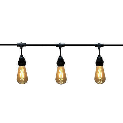 Guirlande Pendante - 6,0m - 8 x E27/ST64 - Filament Led - 5W - 2200°K -