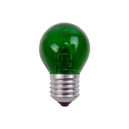 Ampoule E27/G45 - 15/18W - Halogène - Verte