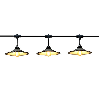 Guirlande Pendante - 15,0m - 20 x E27/G45 - Filament Led - 2 W - Coupelle Métal