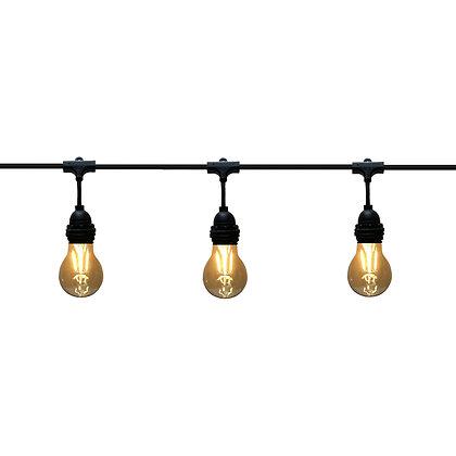 Guirlande Pendante - 6,0m - 8 x E27/A60 - Filament Led - 2W - 2200°K