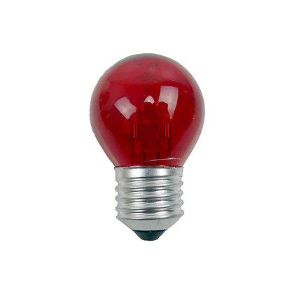 Ampoule E27/G45 - 15/18W - Halogène - Rouge