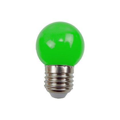 Ampoule - E27/G45 - 0,8/1W - Non dimmable - Verte