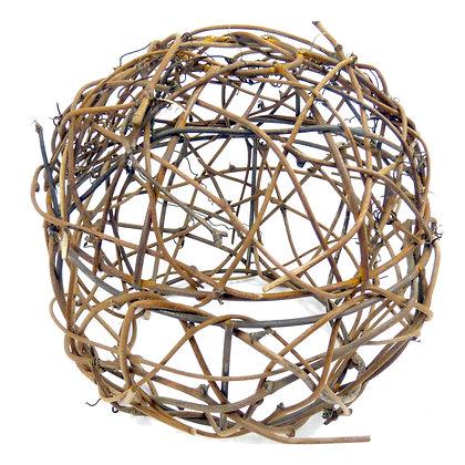 ABAT JOUR (L) - Boule en Osier diam 17cm - Fibre Naturelle