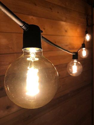 Guirlande Linéaire 3,0 m - 6 Ampoules Filament Led 4W - Vintage 2200°K