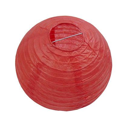 ABAT JOUR (S) - Lanterne papier diam 12cm - Rouge