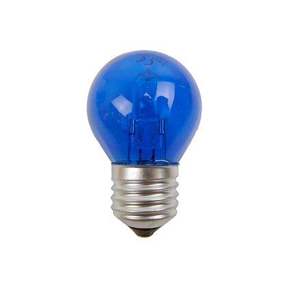 Ampoule E27/G45 - 15/18W - Halogène - Bleu