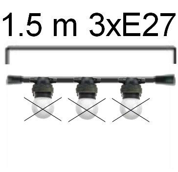 GUIRLANDE - L'INTEMPORELLE (Linéaire) - Long 1,5m-3 Douilles E27 ( sans ampoule)
