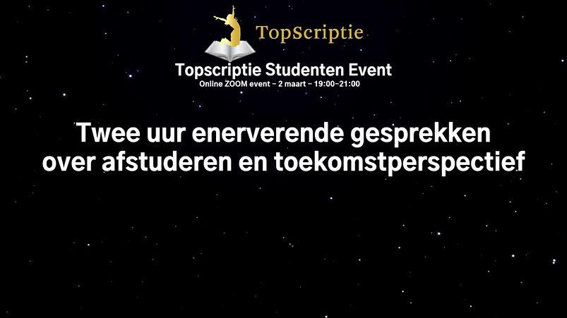 Introductie Topscriptie event