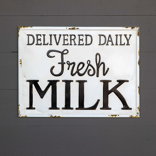 Fresh Milk ~ Metal Sign