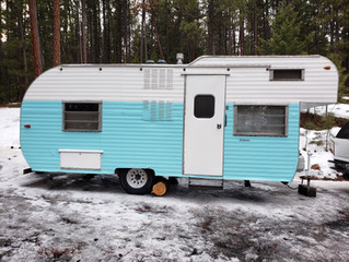Another super fun VINTAGE CAMPER lovingly updated this winter. '65 Pathfinder - went to Idaho!