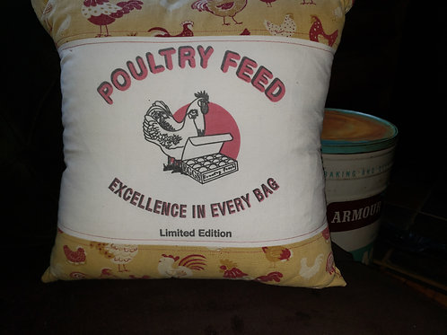 Chicken on the Farm pillow